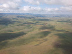 An aerial view of the Rock Creek - Butter Creek Grasslands COA in the Columbia Plateau Ecoregion.